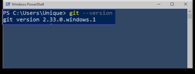 Git Version in PowerShell