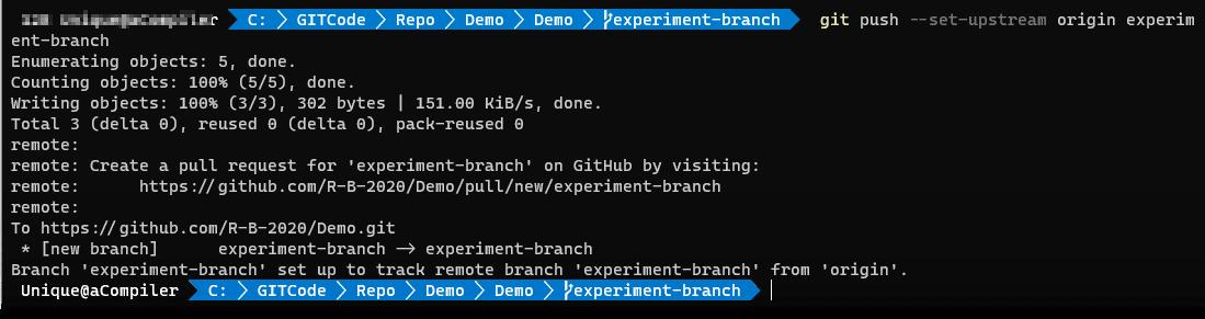 Git push Command final - Git in PowerShell